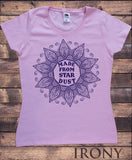 Irony T-shirt S / Pink Women's T-Shirt Made From Star Dust Flowery icon Print TS727