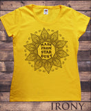Irony T-shirt S / Yellow Women's T-Shirt Made From Star Dust Flowery icon Print TS727