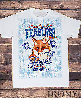 Irony T-shirt Sublimation Mens White Tee,Fearless Foxes Dream Came True, Champions 2015-16