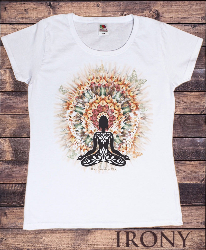 Irony T-shirt Women Aztec Yoga Top Buddha Chakra Meditation Hobo Boho Peace T-shirt TSC15