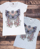 Irony T-shirt Women's T-Shirt Dream Beautiful Double Flipped Peacock Zen Print TS702
