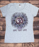 Irony T-shirt Women's T-Shirt Om Asum Hope, Trust, Love Chakra Meditation India Zen-Namaste TS701