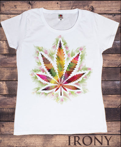 Irony T-shirt Women's White T-shirt Dope Chef Abstract Cannabis 420 Wiz Khalifa Medical Marijuana Print TS662