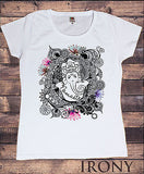 Irony T-shirt Women's White T-Shirt Love and Peace Arabic Dove Graphical Font Print TS206