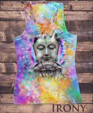 Irony T-shirt Womens Vest Top,Psychedelic Yoga Buddha Chakra Meditation India Hobo Boho SUB5921