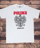 Mens White T-shirt Polska Poland Football Fan Euro 2018 Russia Novelty Print