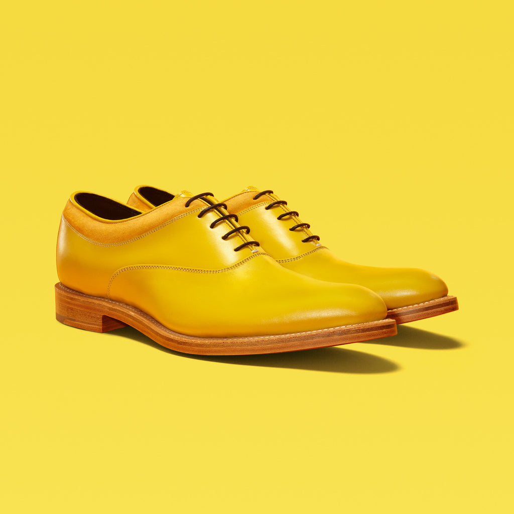 MAGNUS | Yellow Leather Oxford Shoes