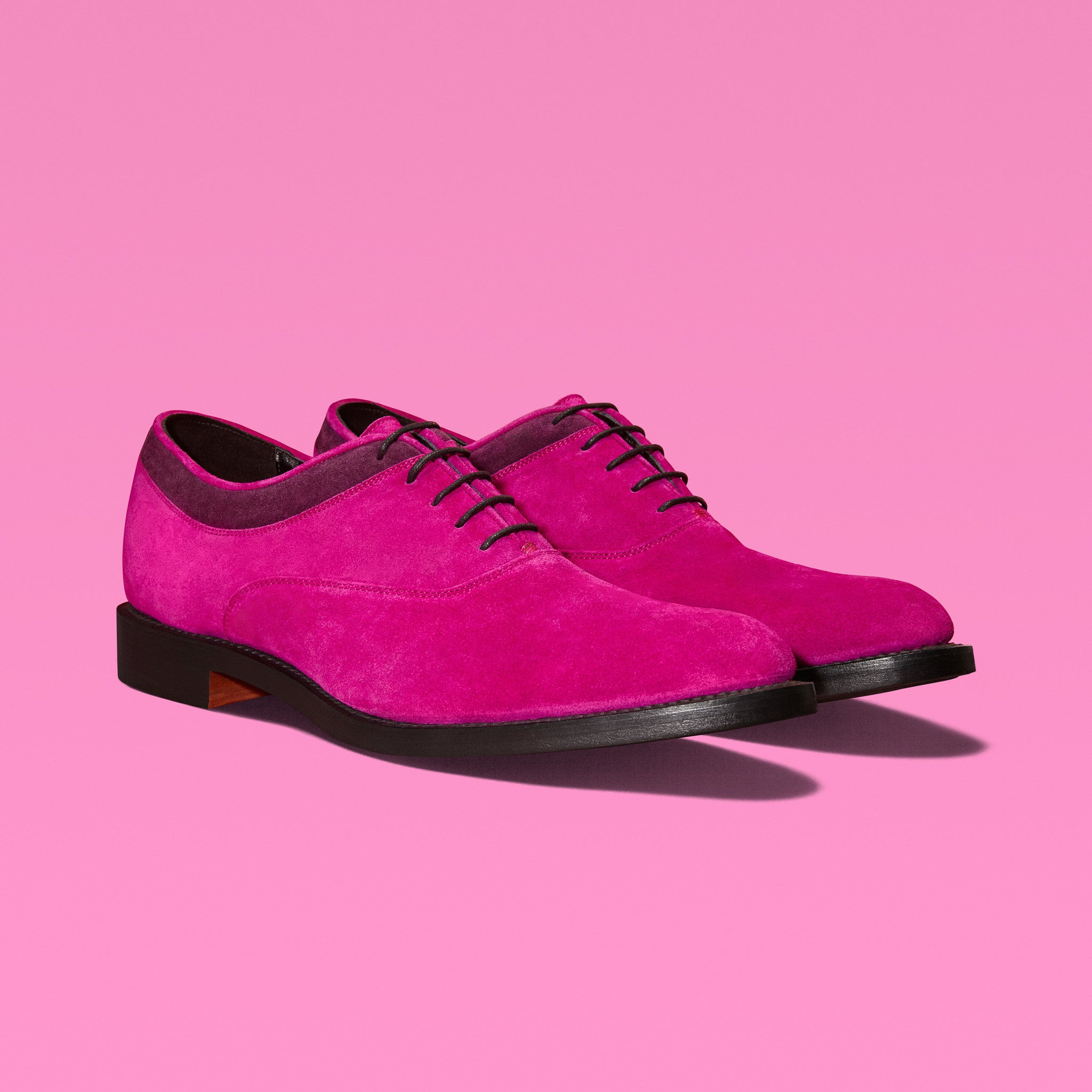 MAGNUS | Fuchsia Suede Oxford Shoes