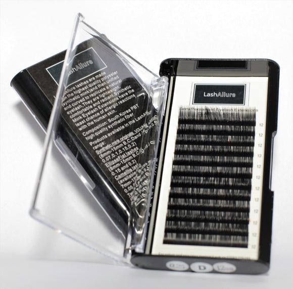 Classic Lashes Single Lash Tray - 0.25 Thickness