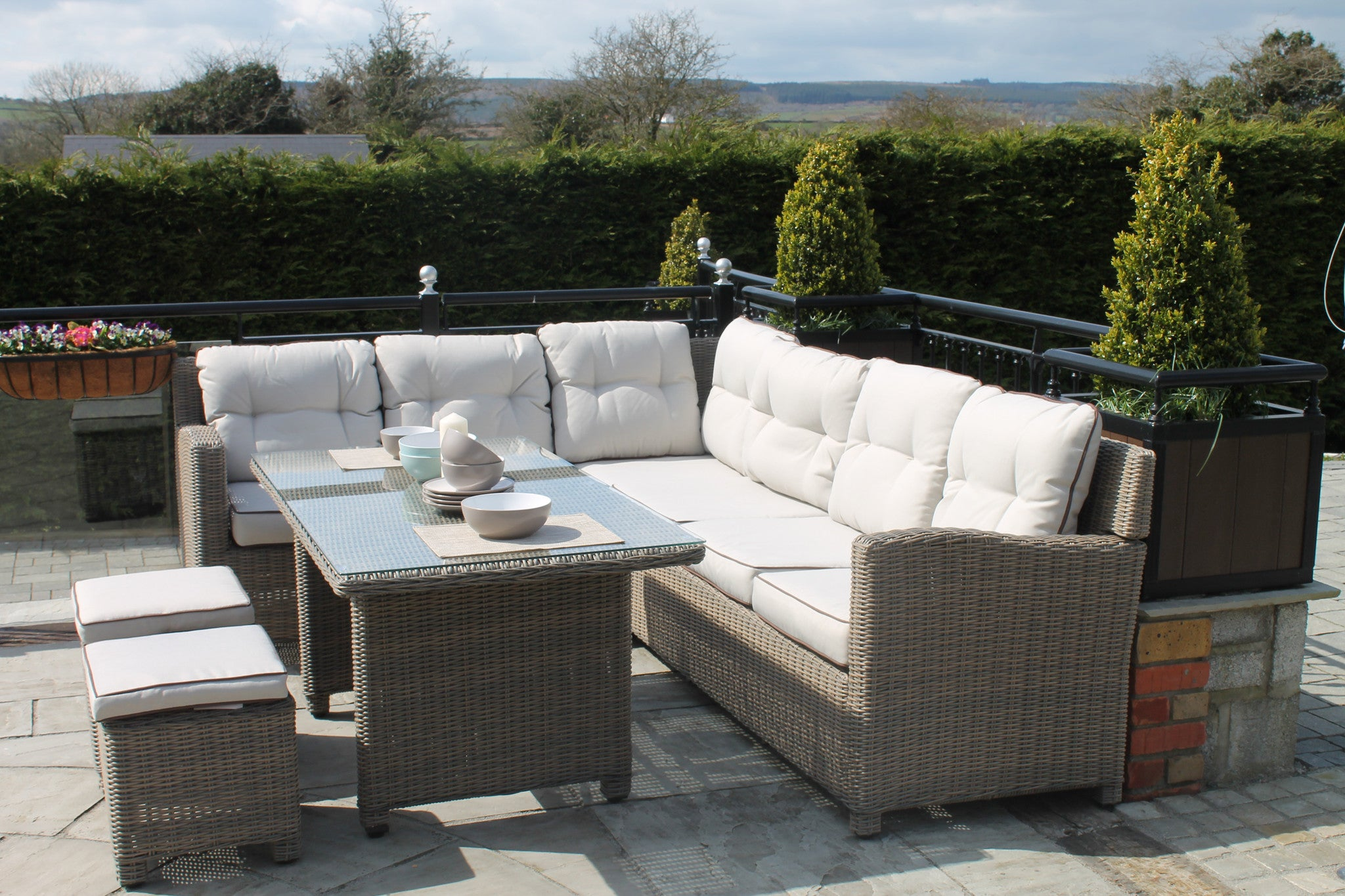 Rattan lounge set  Mount Brandon Rattan Lounge Set - Instyle Garden Furniture