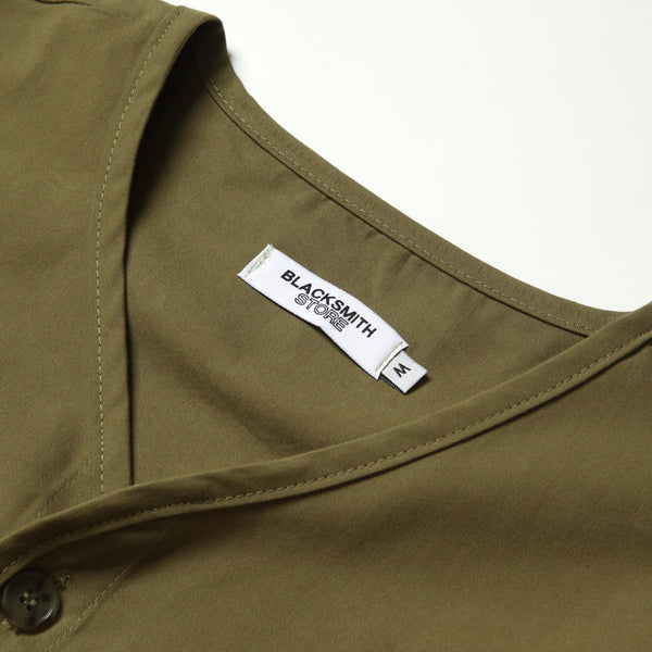 Blacksmith - Collarless Liner Jacket - Olive
