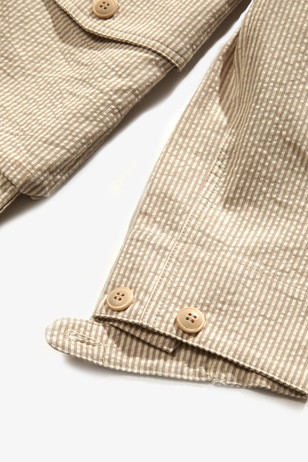 Blacksmith - Seersucker Chore Overshirt - Sand