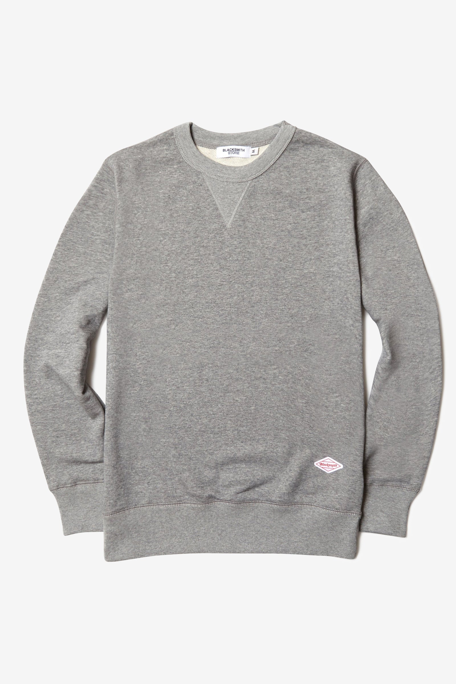 Blacksmith - Loopback Everyday Crewneck - Heather Grey