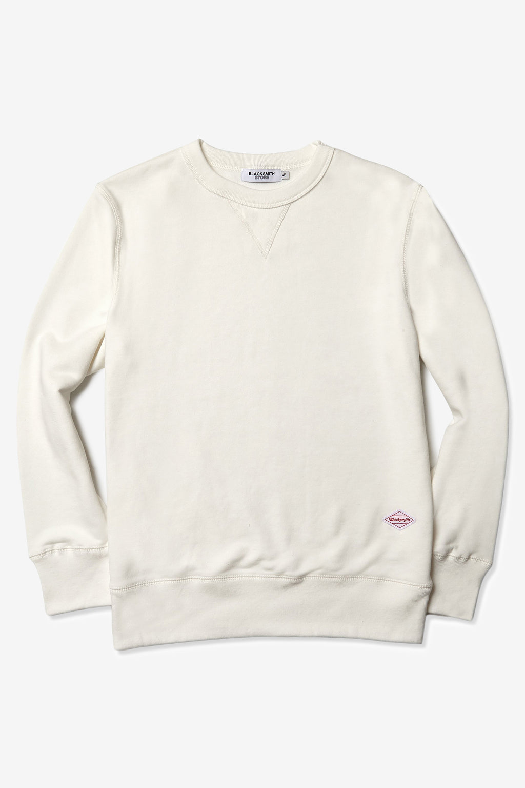 Blacksmith - Loopback Everyday Crewneck - Ivory