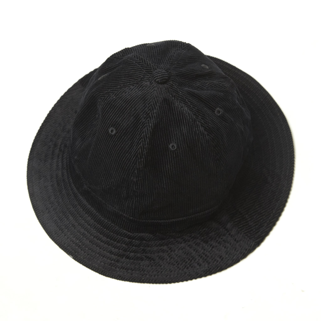 Blacksmith - Corduroy Bell Bucket Hat - Black