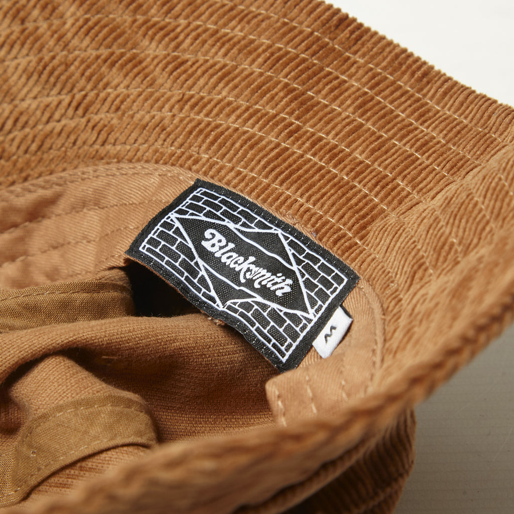 Blacksmith - Corduroy Bell Bucket Hat - Brown
