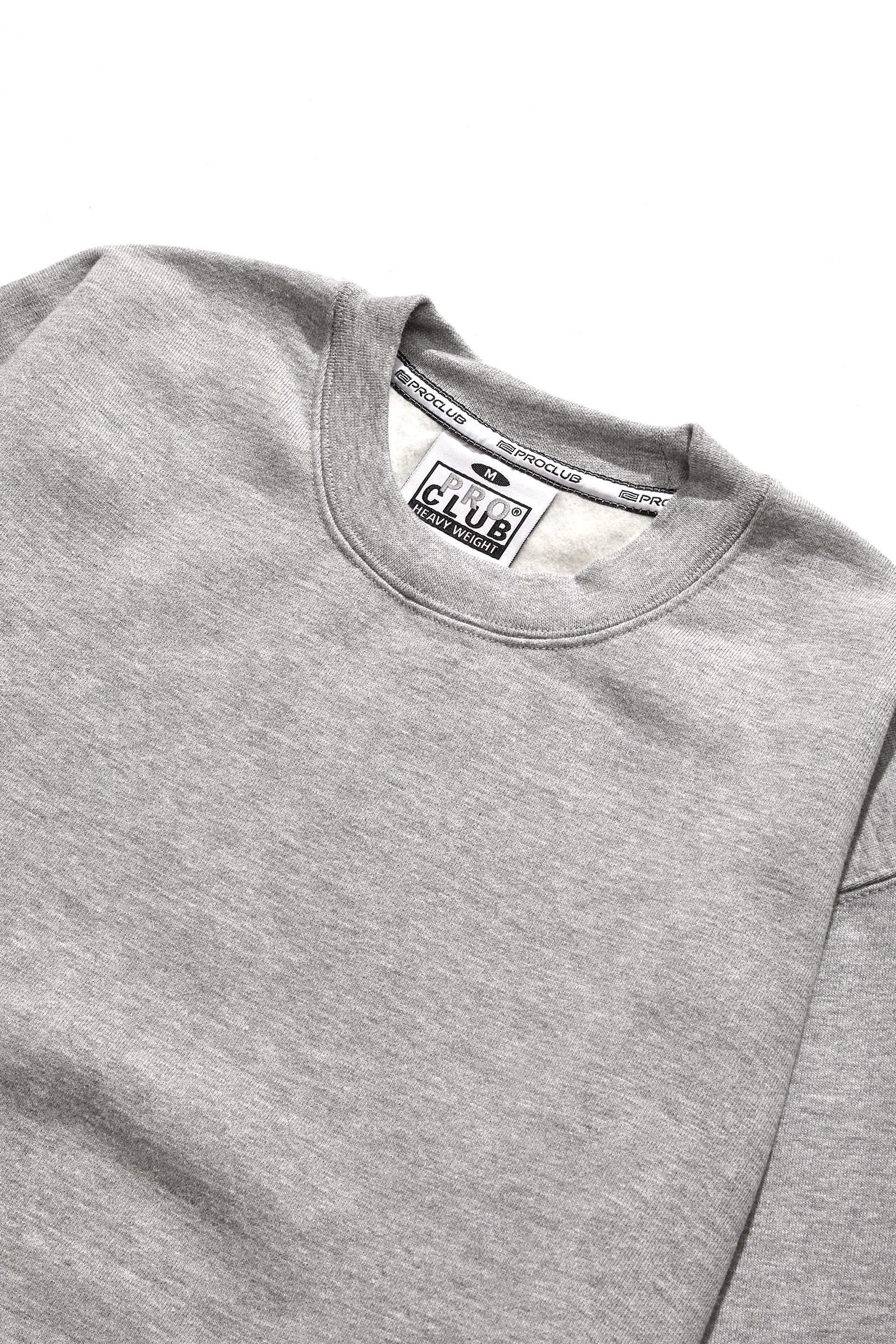 Pro Club - Heavyweight Crewneck Sweatshirt - Heather Grey