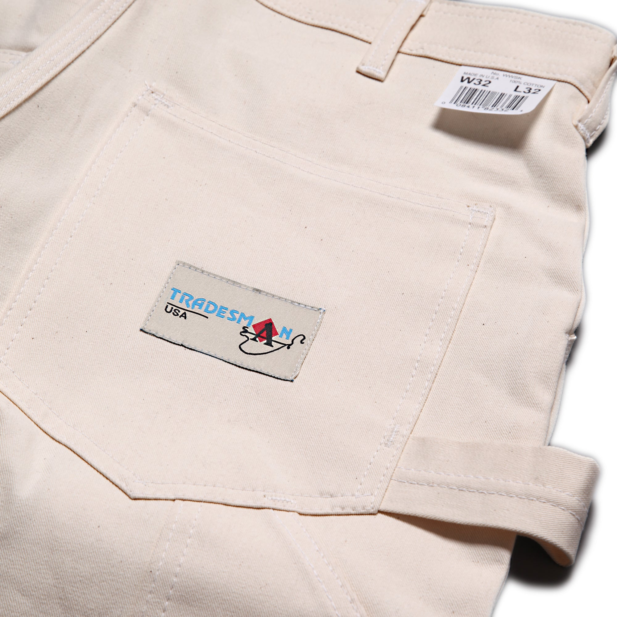 Ace Drop Cloth Tradesman Carpenter Pants - Natural