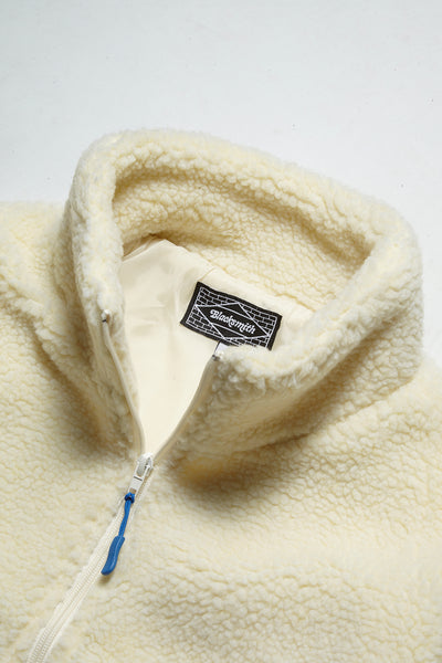 Blacksmith - Trek Pile Zip Fleece - Cream