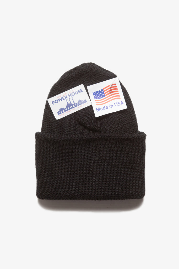 Power House - Watch Cap Beanie - Black