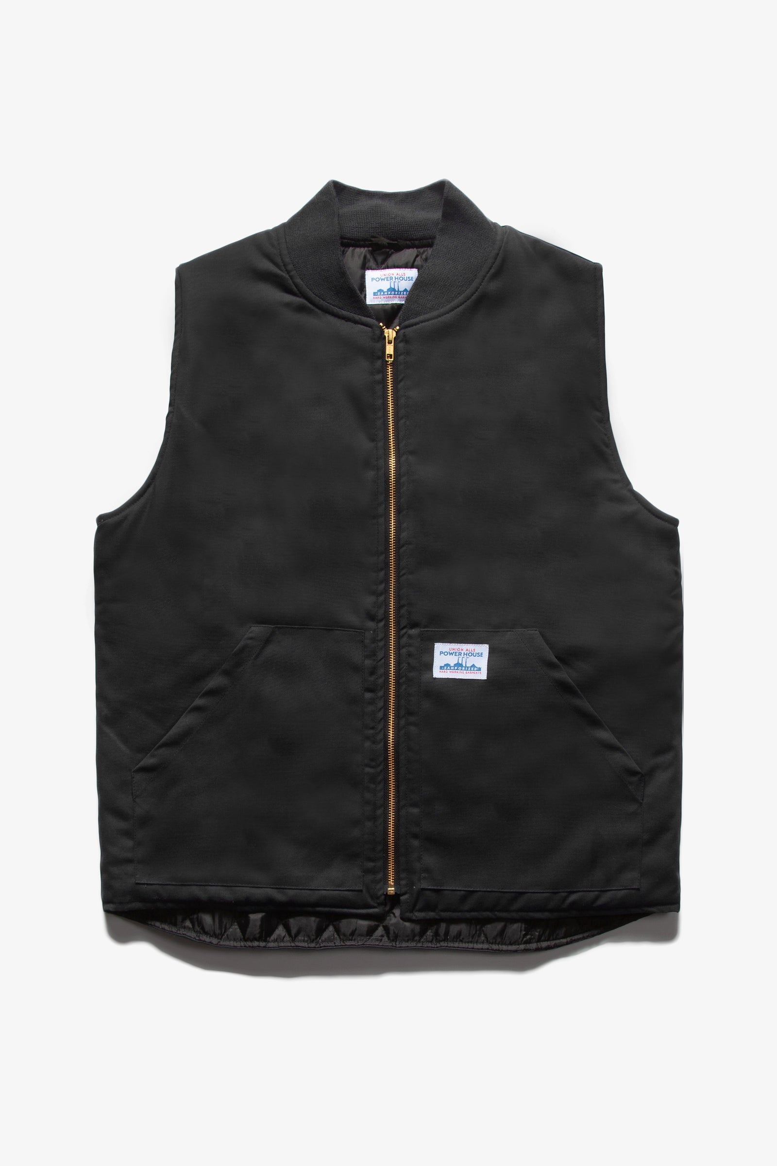 Power House - Canvas Work Vest - Black