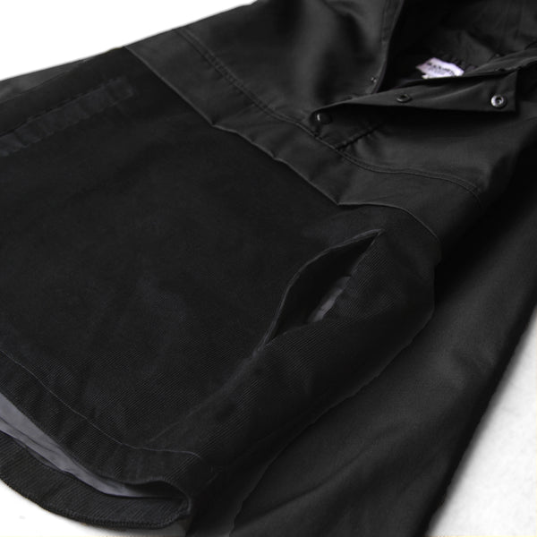 Blacksmith - Two Tone Corduroy/Canvas Pullover - Black