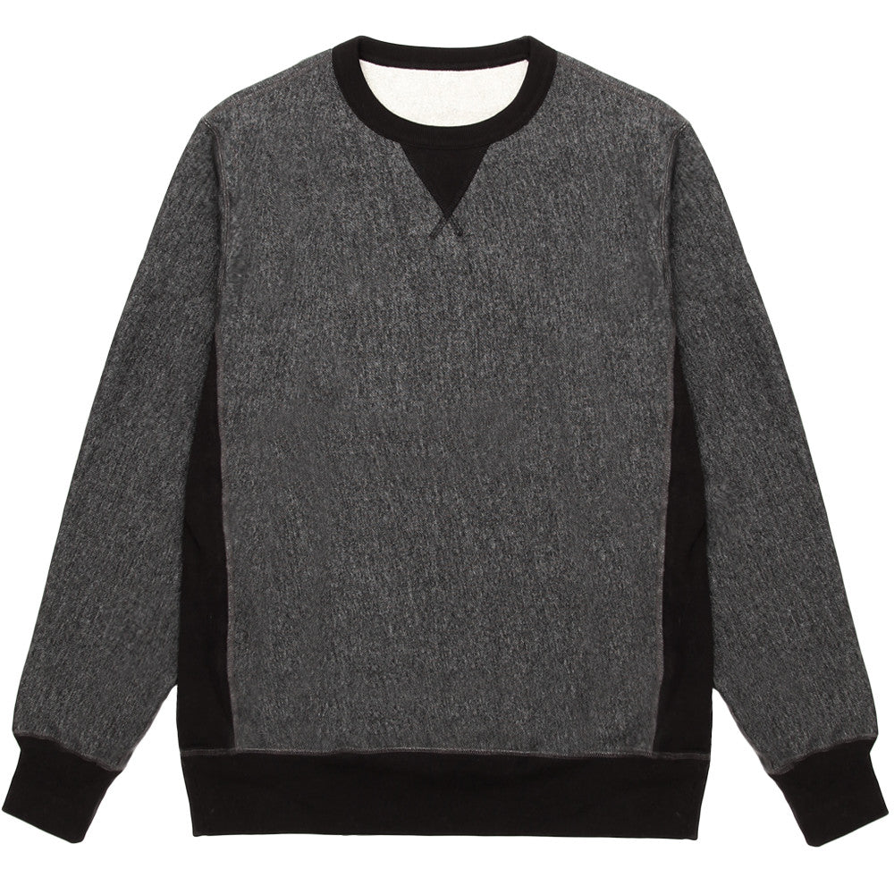 Blacksmith - Cross-Grain Staple Crewneck - Black Pepper