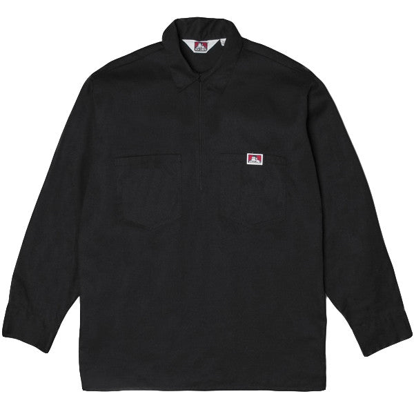 Ben Davis - 1/4 Zip Pullover Work Shirt - Black