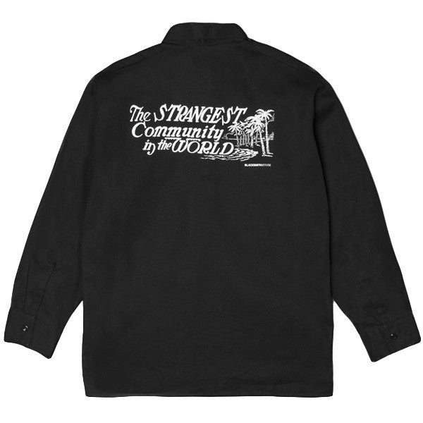Blacksmith / Ben Davis® - TWSC 1/4 Zip Work Shirt - Black