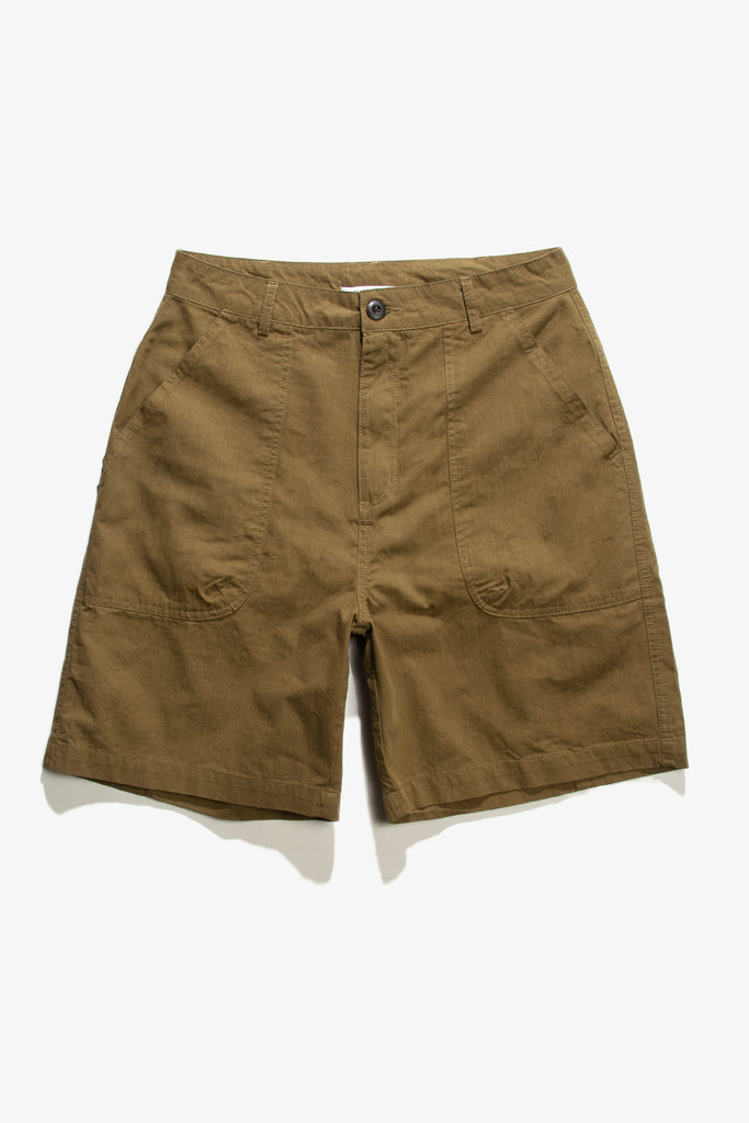 Blacksmith - Sateen Fatigue Shorts - Olive