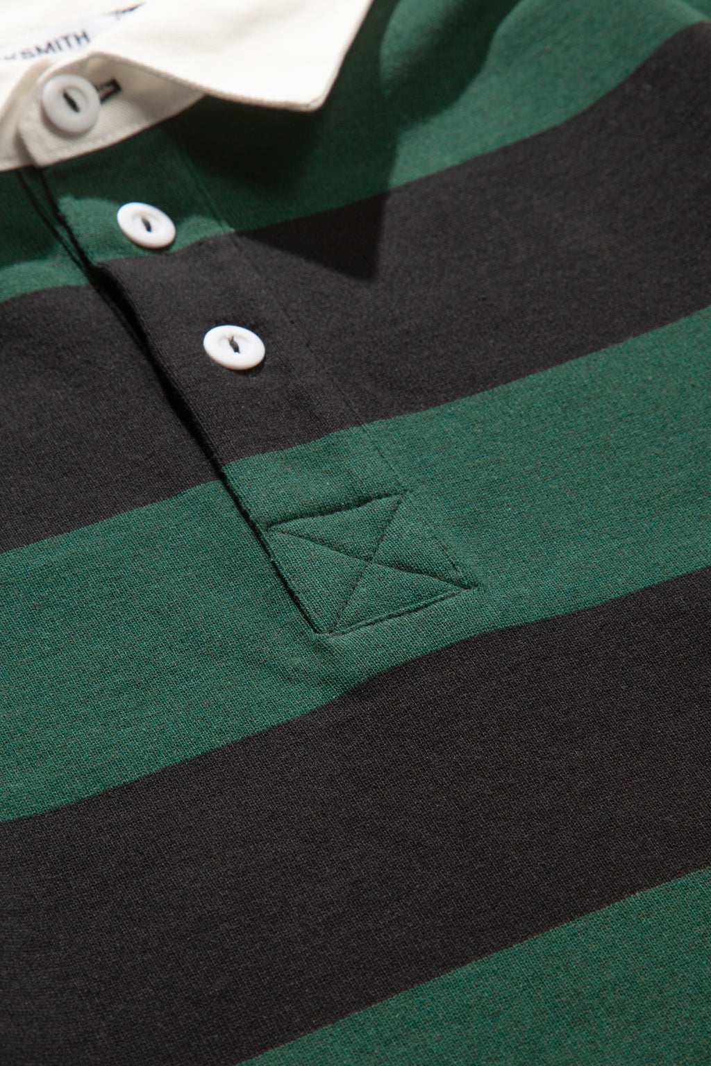 Blacksmith - Yarn Dye Striped Rugby - Forest/Black