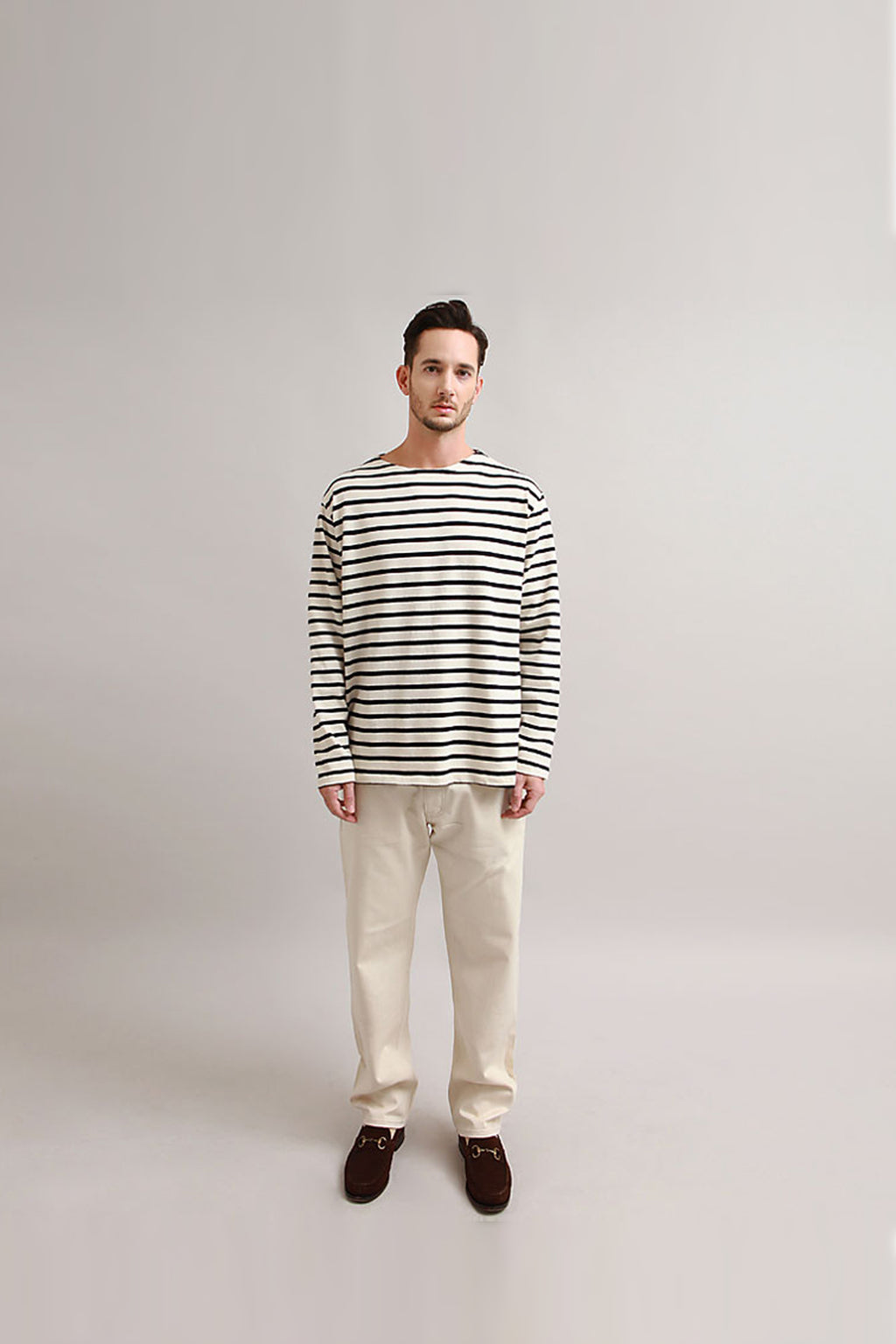 Outstanding & Co. - Boatneck Breton Stripe Top - Navy