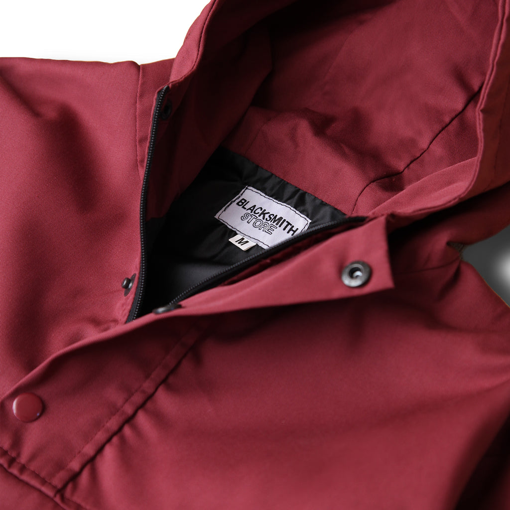 Blacksmith - Two Tone Corduroy/Canvas Pullover - Claret