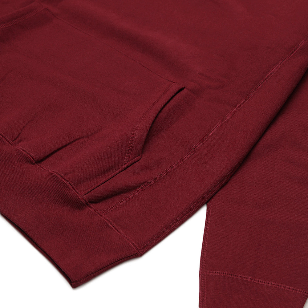 Blacksmith - Cross-Grain Staple Hoodie - Burgundy