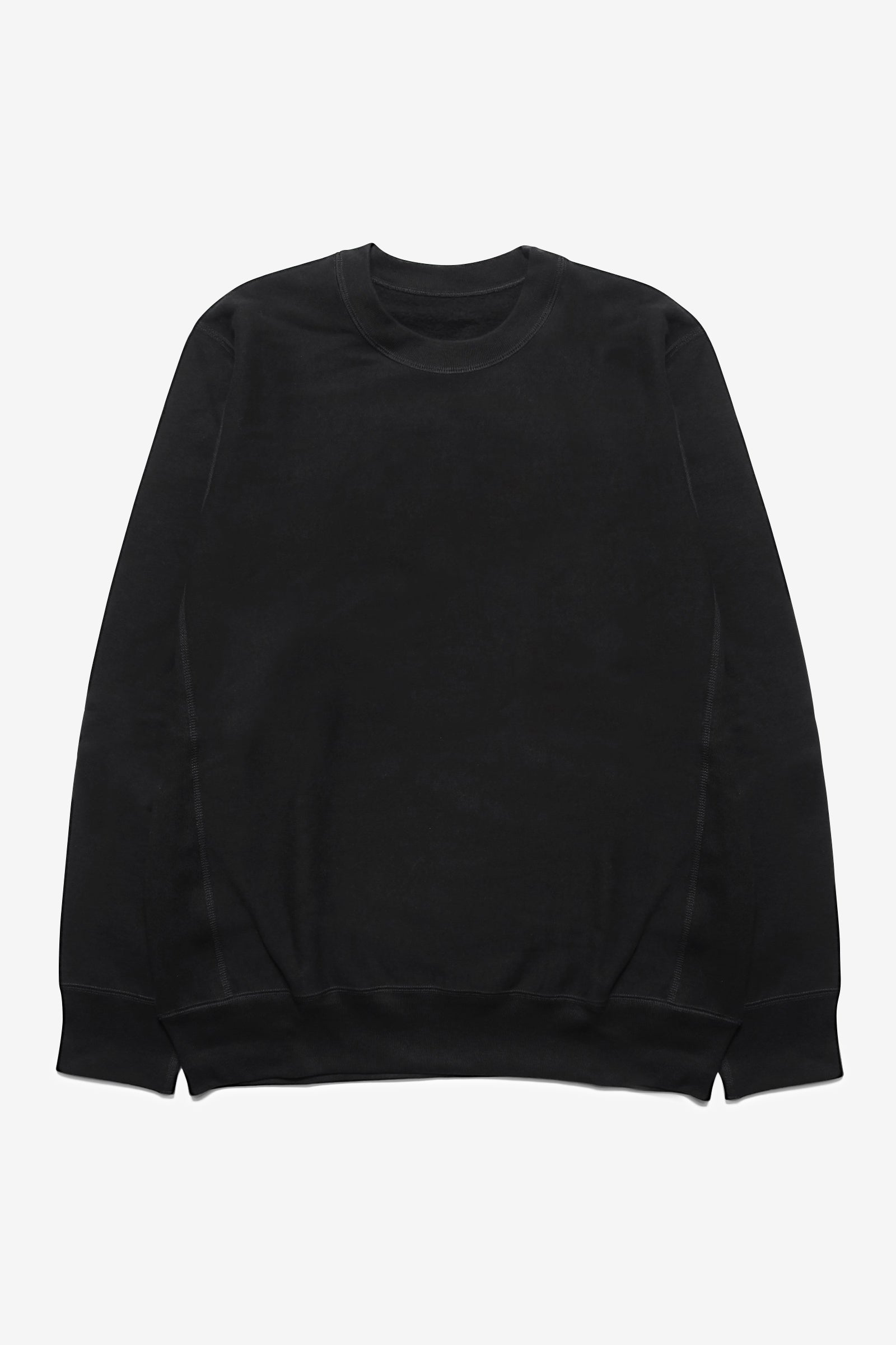 Blacksmith - Cross-Grain Staple Crewneck - Black
