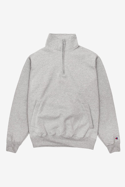 Champion - 9oz Quarter Zip - Grey Heather