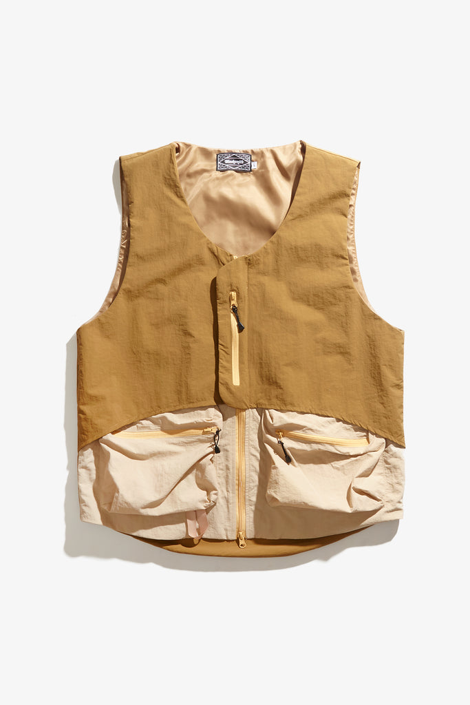 Blacksmith - Crinkle Nylon Vest - Coffee