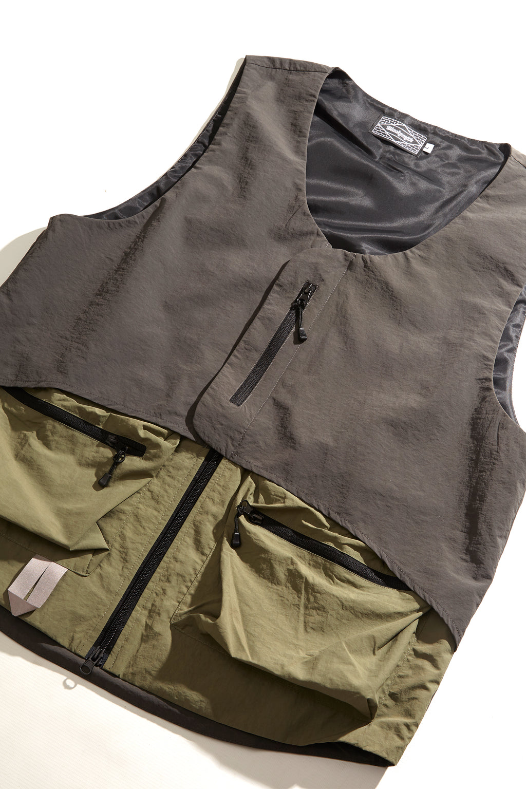 Blacksmith - Crinkle Nylon Vest - Jungle