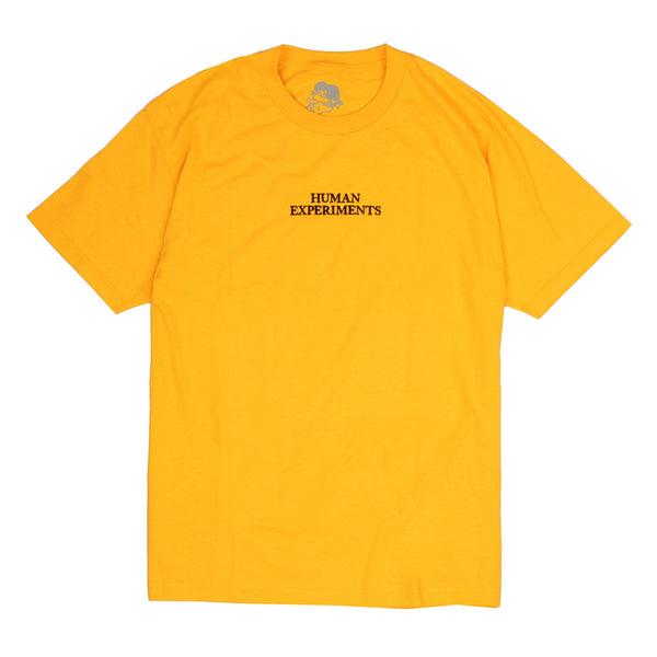 Come Sundown - Human Experiments T-Shirt - Yellow