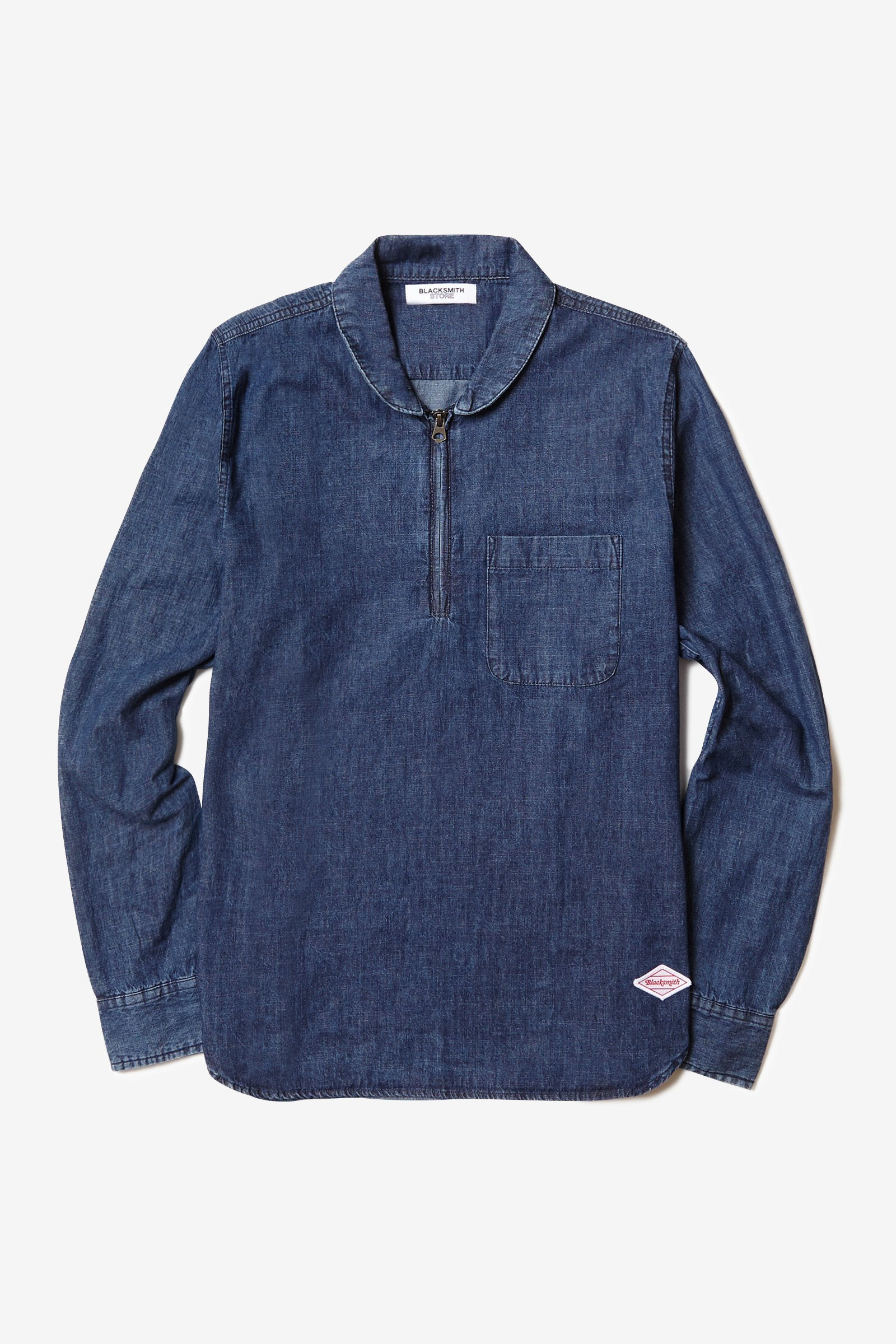 Blacksmith - Quarter Zip Shawl Shirt - Indigo