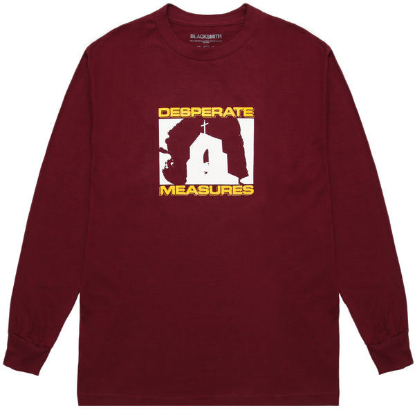 Blacksmith - Desperate Measures L/S Tee - Burgundy