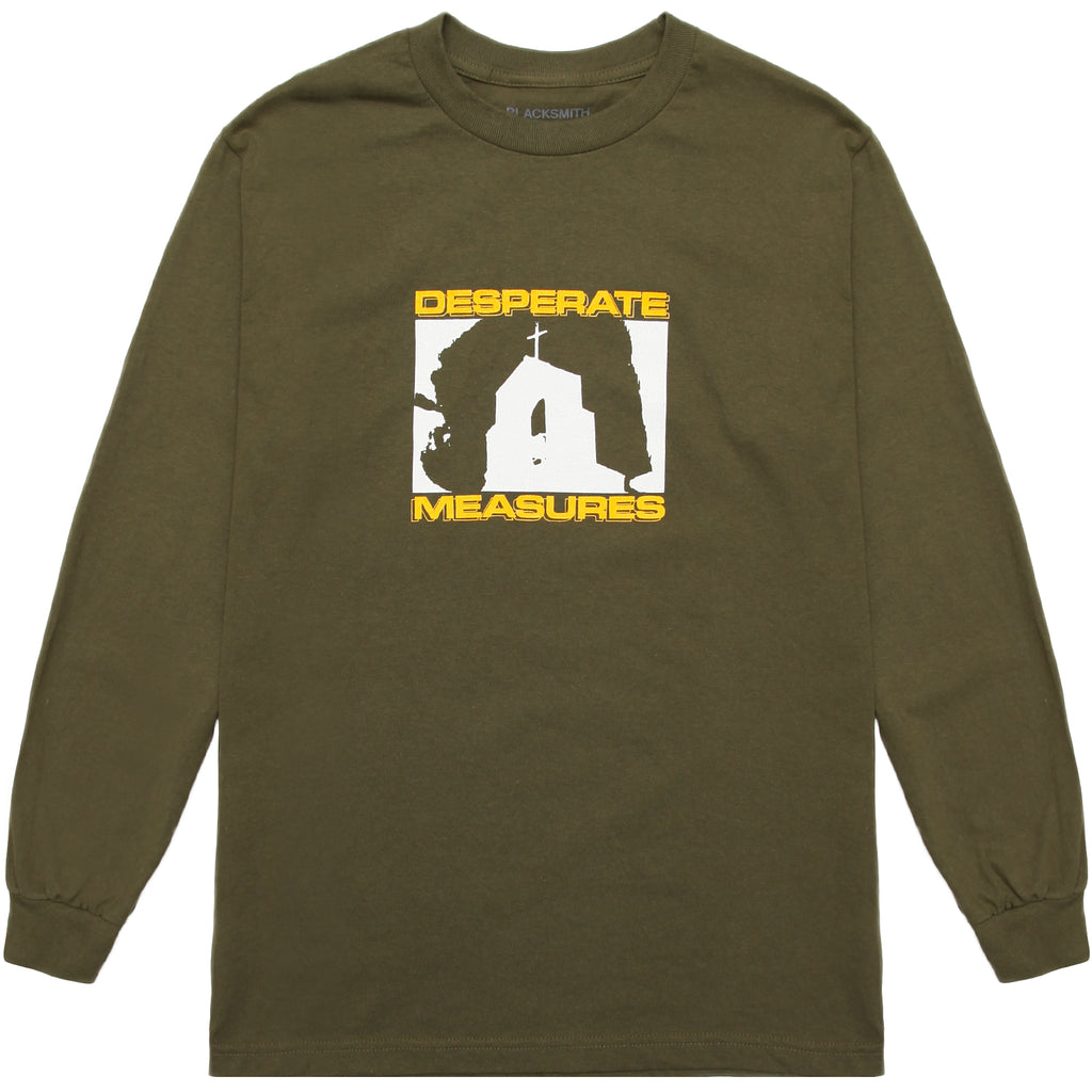 Blacksmith - Desperate Measures L/S Tee - Olive