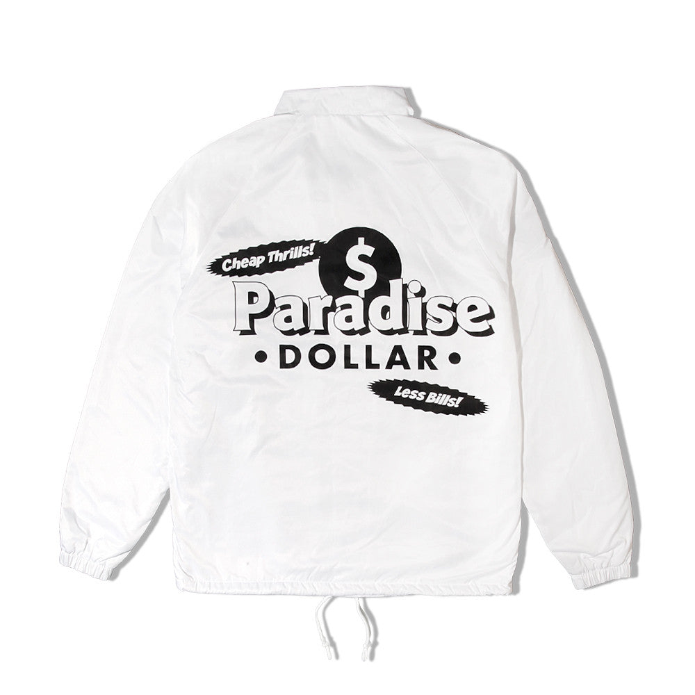Made In Paradise - Dollar Coach Jacket - White
