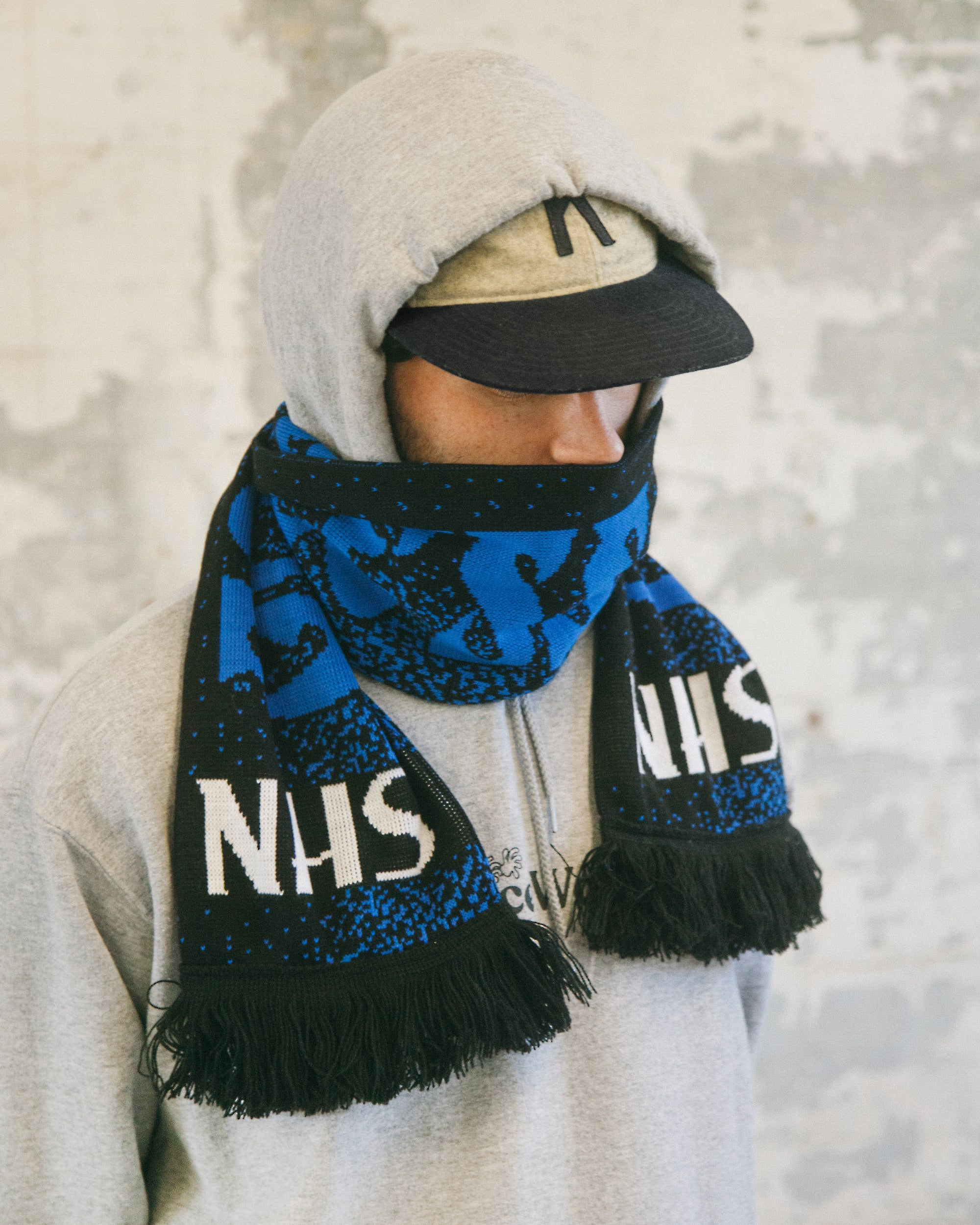 Blacksmith - God Bless The NHS Scarf - Black