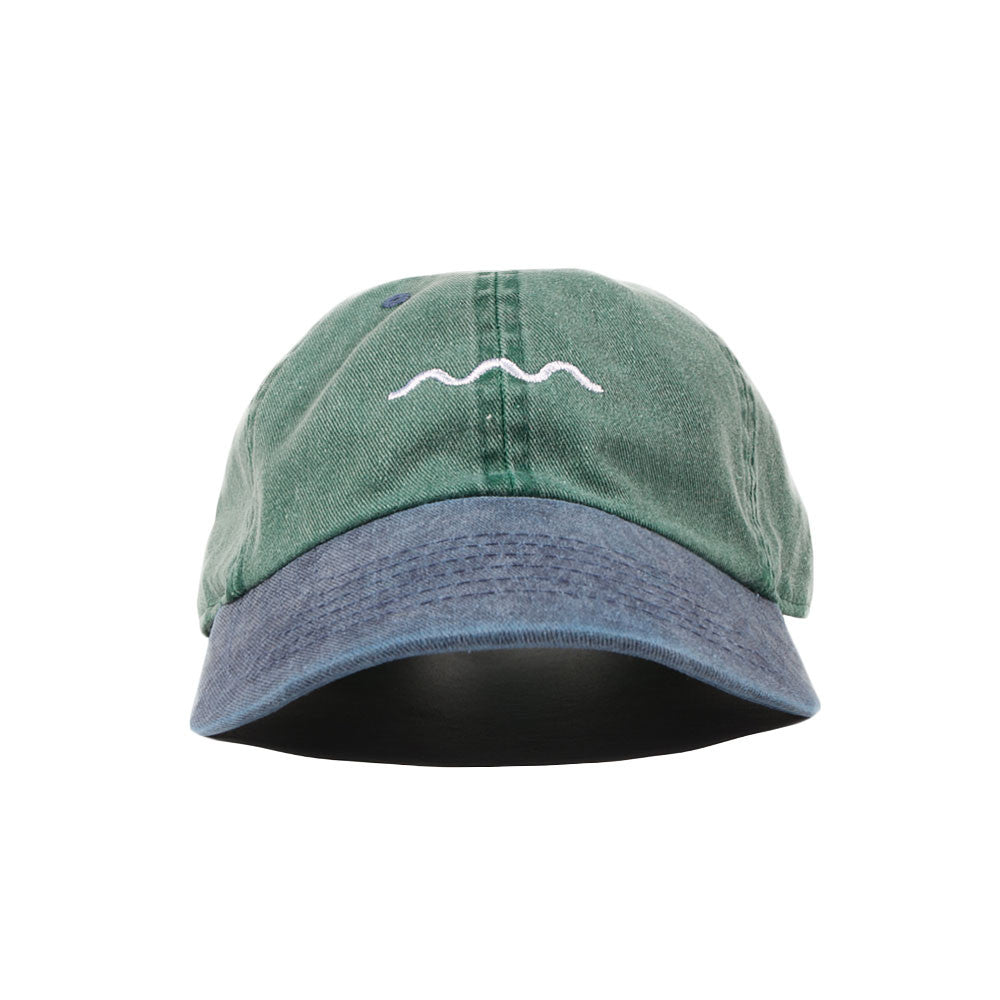 The Good Company - Wave Logo Dad Cap - Green/Blue