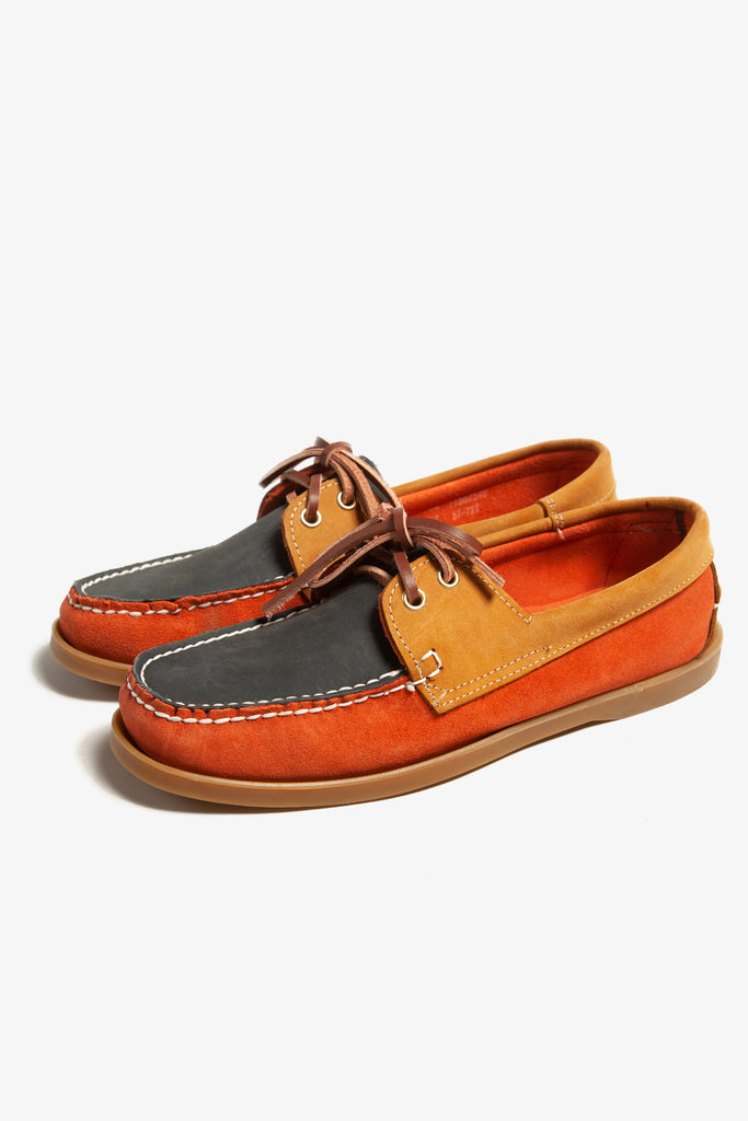Goodcamp - Deck Loafer Shoes - Orange Multi