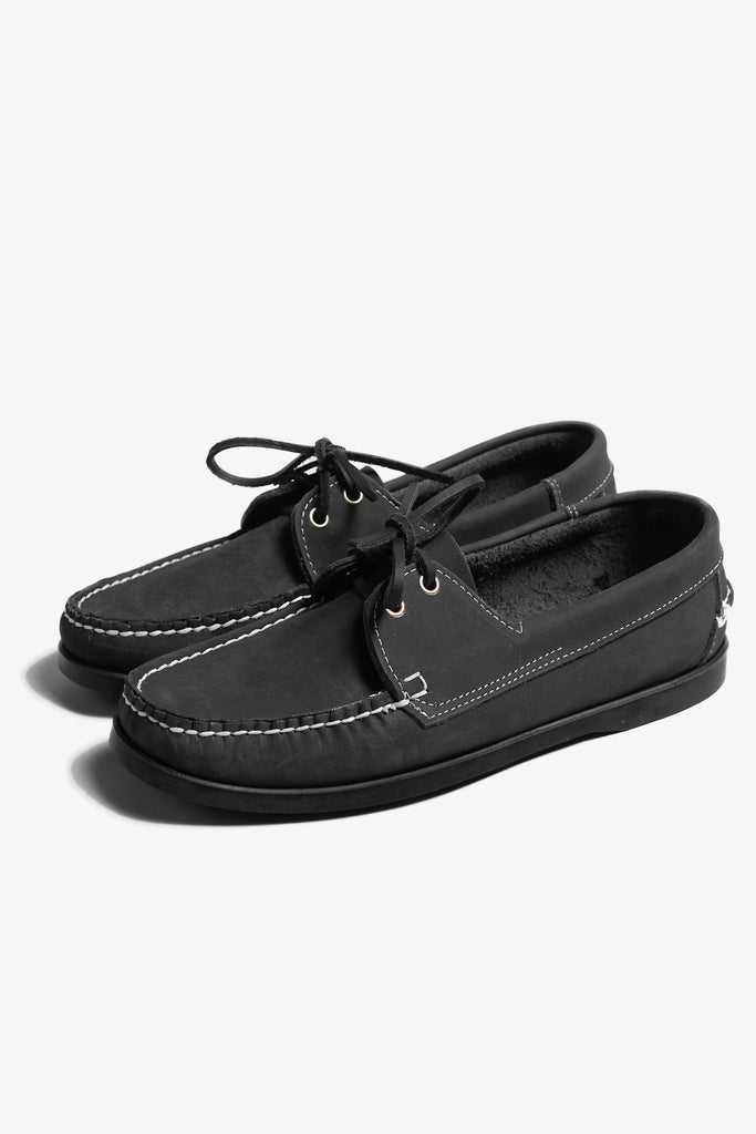 Goodcamp - Deck Loafer Shoes - Black