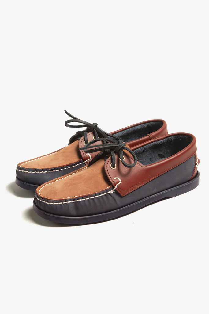 Goodcamp - Deck Loafer Shoes - Brown Multi