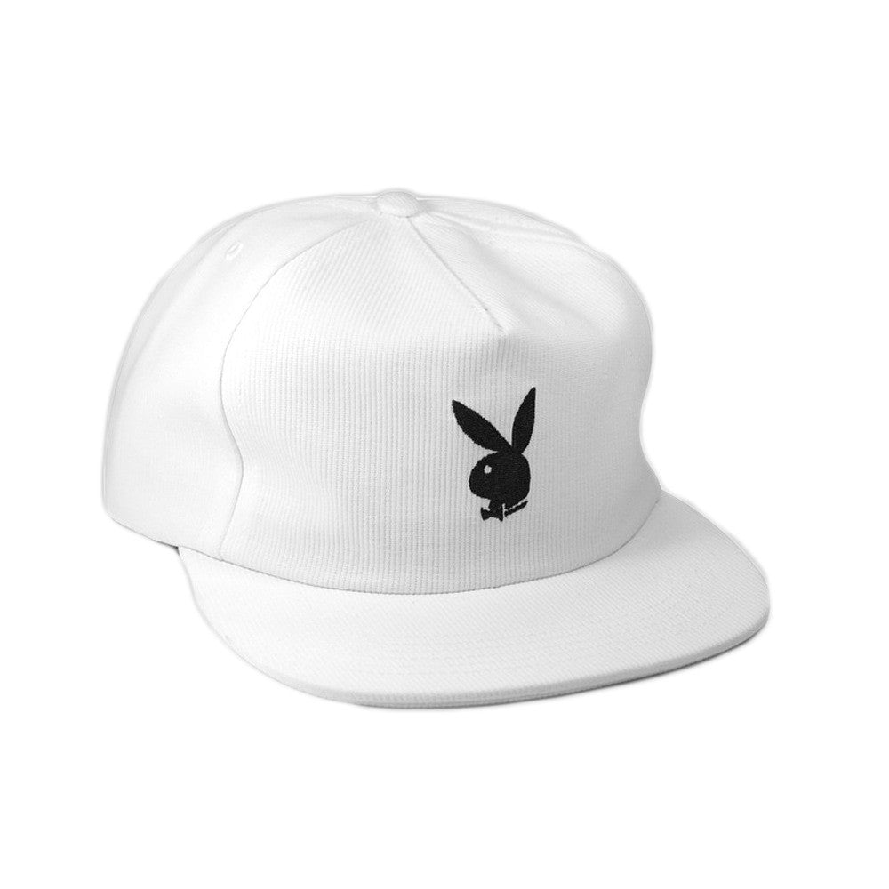 Good Worth & Co - Playboy Rabbit Head Snapback Cap - White