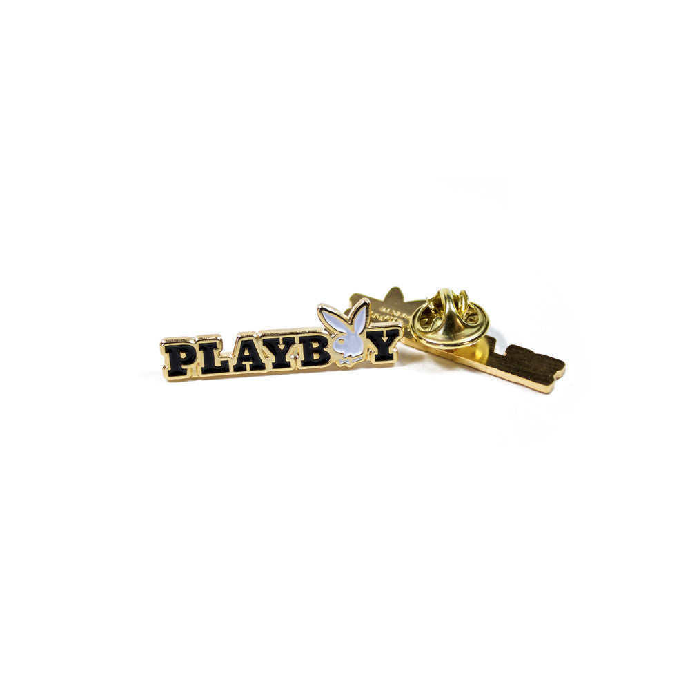 Good Worth & Co - Playboy Rabbit Text Pin
